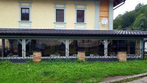 Krycie plachty na terasu Žarnovica